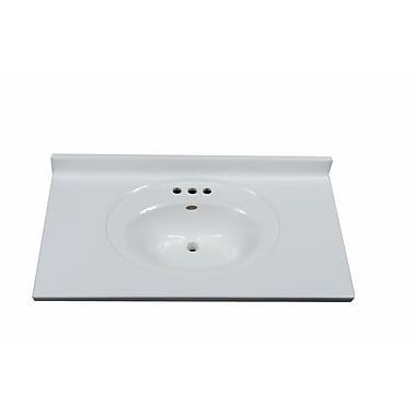 Imperial Recessed Center Oval 37'' Single Bathroom Vanity Top