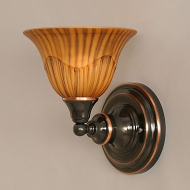 Toltec Lighting 1-Light Wall Sconce; Black Copper