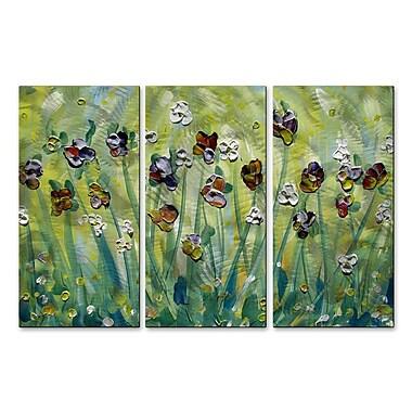 All My Walls 'Iris' by Danlye Jones 3 Piece Painting Print Plaque Set