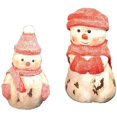 Santa's Workshop 4 Piece Assorted Snowman Figurines Set