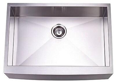 Kingston Brass Denver 30'' x 21'' Gourmetier Single Bowl Farm House Kitchen Sink WYF078276318762