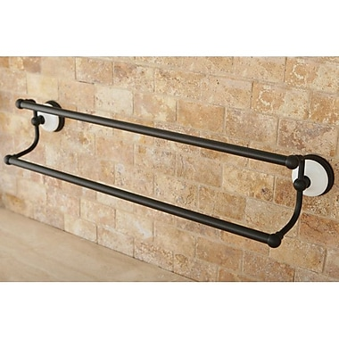 Kingston Brass Victorian Double 24'' Wall Mounted Towel Bar; Oil Rubbed Bronze