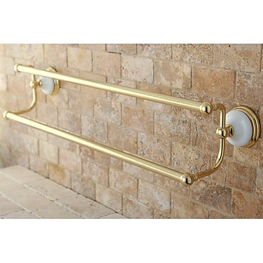 Kingston Brass Victorian Double 24'' Wall Mounted Towel Bar; Polished Brass