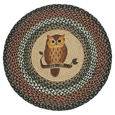EarthRugs Owl Printed Area Rug; Round 2'3''