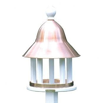 Good Directions Bell Decorative Tray Bird Feeder; Polished Copper (WYF078276233233) photo
