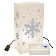Luminarias Snowflake 10 Count Electric Luminaria Kit w/ Lumabases (Set of 10)