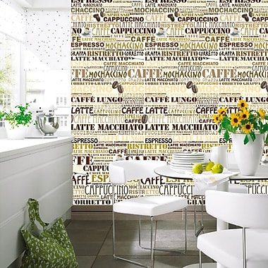 Brewster Home Fashions Ideal Decor Cafeteria Wall Mural