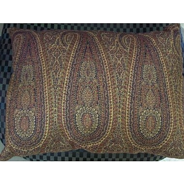 Belle Epoque Little Tear Drop Paisley Decorative Indoor/Outdoor Lumbar Pillow