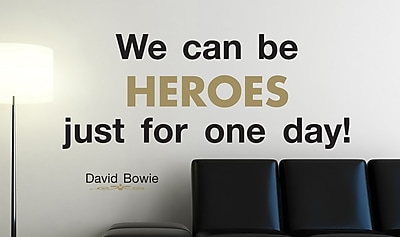 Brewster Home Fashions Euro We Can Be Heroes Quote Wall Decal