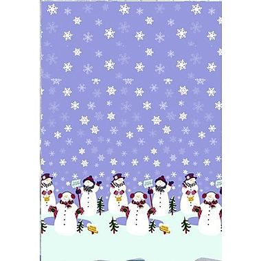 Carnation Home Fashions Let it Snow Holiday Print Shower Curtain Set