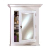 Afina Wilshire II 22'' x 27'' Recessed Medicine Cabinet; White