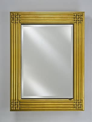 Afina Vanderbilt 28'' x 34'' Recessed Medicine Cabinet; Gold
