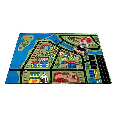 Kid Carpet Total Transportation Play Town Area Rug; 6' x 8'6''