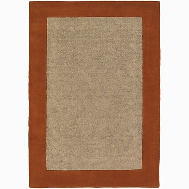 Chandra Hickory Red/Beige Area Rug; 5' x 7'6''