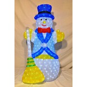 Queens of Christmas 3D Snowman Lit w/ LED Christmas Decoration