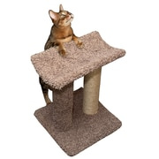 New Cat Condos 18'' Premier Sisal Rope Cat Scratching Post; Beige
