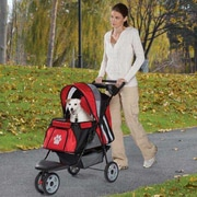 Guardian Gear Roadster II Dog Jogger Pet Stroller; Red