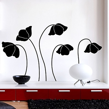 Brewster Home Fashions Euro Flower Silhouette Wall Decal