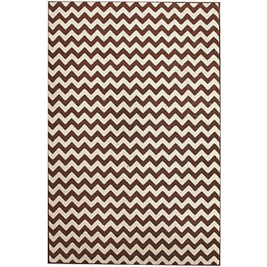 nuLOOM Allure Brown/Ivory Chevron Area Rug; Rectangle 7'10'' x 10'10''