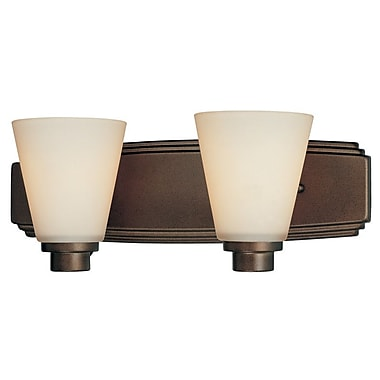 Dolan Designs Southport 2-Light Vanity Light; Heirloom Bronze