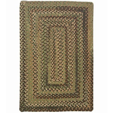 Colonial Mills Gloucester Cabana Braided Green Area Rug; Rectangle 8' x 11'