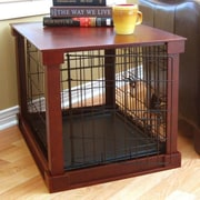 Merry Products Deluxe Pet Crate in Brown; Small (19'' H x 18'' W x 24'' L)