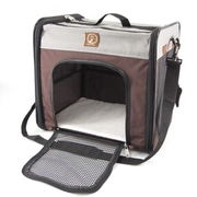 OneForPets ''The Cube'' Folding Pet Carrier; Grey / Brown