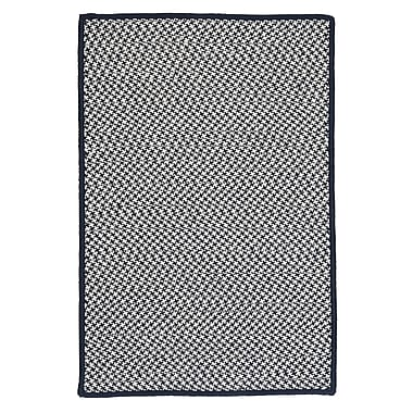 Colonial Mills Outdoor Houndstooth Tweed Navy Rug; 5' x 8'
