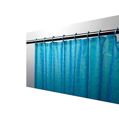 Carnation Home Fashions Peva Shower Curtain; Cerulean Blue