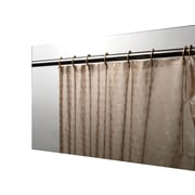 Carnation Home Fashions Peva Shower Curtain; Brown