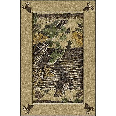 Milliken Realtree X-tra Solid Border Brown Area Rug; Rectangle 5'4'' x 7'8''
