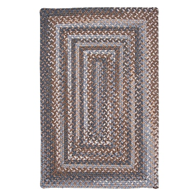 Colonial Mills Gloucester Graphite Braided Brown/Tan Area Rug; Rectangle 4' x 6'