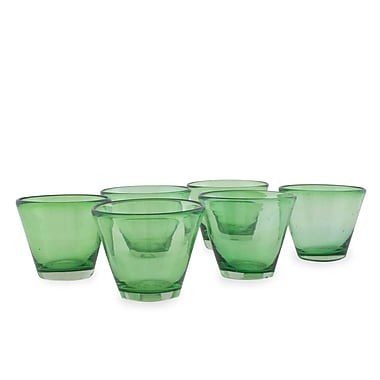 Novica The Javier and Efren Handblown Recycled Juice Glass (Set of 6)
