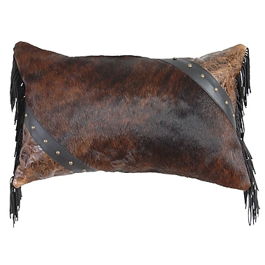 Wooded River Cosmopolitan Specialty Leather and Leather Suede Fringe Throw Pillow