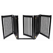 Dynamic Accents Amish Handcrafted 32'' Walk-Through 5 Panel Free Standing Gate; Black