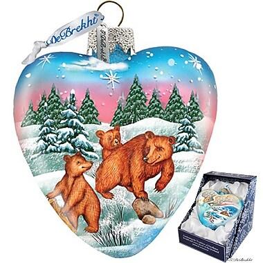 G Debrekht Kodiak Family Heart Ornament