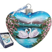 G Debrekht Swan Heart Ornament