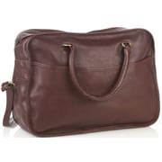 Aston Leather 18'' Leather Overnight Travel Duffel; Brown