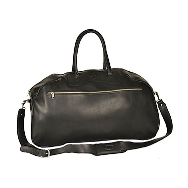 Aston Leather 24'' Leather Gym Bag; Black