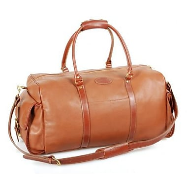 Aston Leather 24'' Leather Carry-On Duffel w/ Side Pockets; Brown