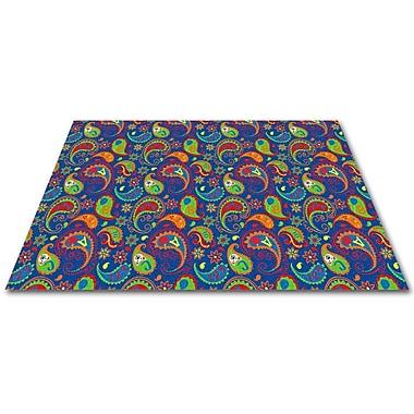Kid Carpet Paisley w/ ABC Indoor/Outdoor Area Rug; 12' x 15'
