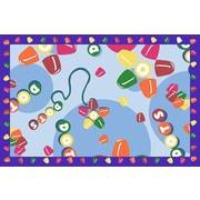 Fun Rugs Tootsie Roll Dots Area Rug; 1'7'' x 2'5''