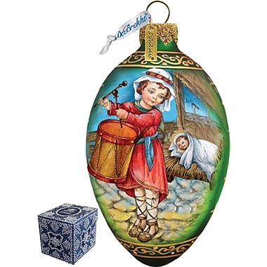 G Debrekht Drummer Boy Egg Ornament