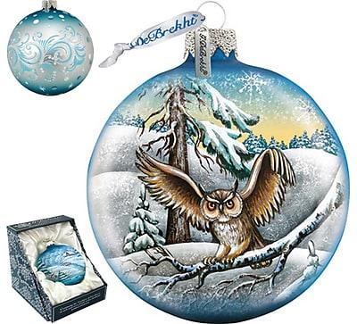 G Debrekht Owl Ball Ornament
