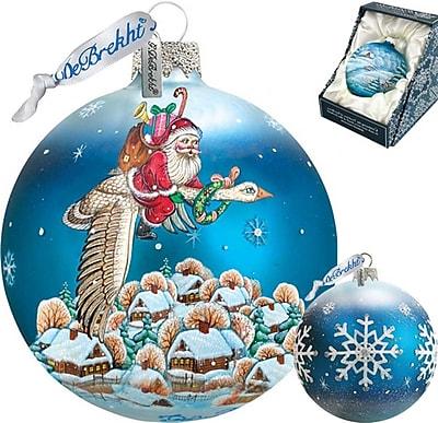 G Debrekht Santa on Goose Ball Ornament