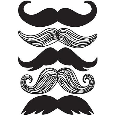 WallPops! Wall Art Kit Mustache Small Wall Decal
