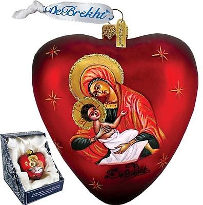 G Debrekht Mary and Jesus Heart Ornament
