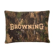 Browning Camo Deer Cotton Lumbar Pillow by
