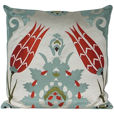 Edie Inc. Laser Moroccan Tile Throw Pillow; Mineral