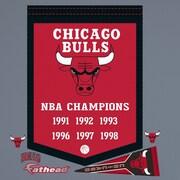 Fathead NBA Championship Banner Wall Decal; Chicago Bulls